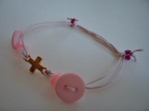 Bracelet pink button2