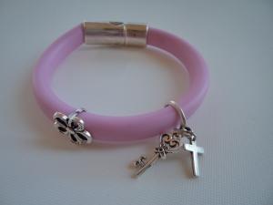 Bracelet pink flower2