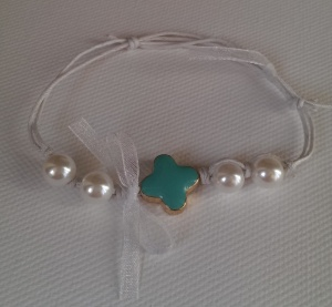 Turquoise with pearls