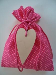pouch wooden heart